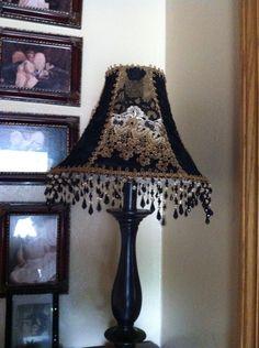 Crazy quilt lamp .For my studio!