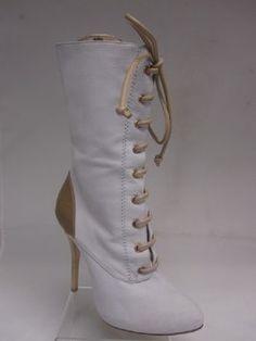 Giuseppe Zanotti White and Tan Boots