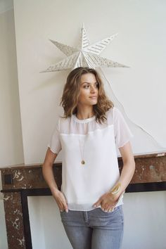 Top Olivia www.lescomptoirsd... #lescomptoirsdorta #eshop #top #olivia #blanc #white #spring #collection #crush