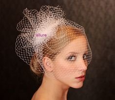 BIRD CAGE VEIL unique and so glamorous. Head piece, wedding  veil. For modern bride.