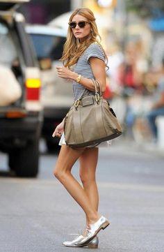 Absolutely adore #OliviaPalermo's metallic oxfords