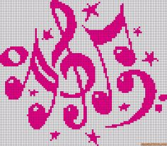 Musical Instruments for Cross Stitch Alpha Friendship Bracelet Pattern #13150 - BraceletBook.com