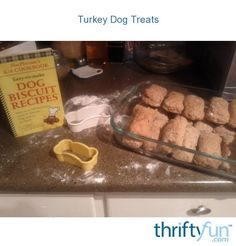 I was slicing up the turkey for Thanksgiving and noticed that there was quite a bit of turkey left on the bones. It was just on parts I would not use. With all that extra, I made turkey treats for my dogs and they loved them.