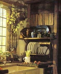 New Ideas For Farmhouse Kitchen Window Shelf Plate Racks Kitchen Window Shelves, Corner Sink Kitchen, Cozy Kitchen, Kitchen Decor, Country Kitchen, Kitchen Ideas, Rustic Kitchen, Unfitted Kitchen, Big Kitchen