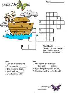 Free Bible Worksheets for Kids. Our Bible Worksheets include Cursive Handwriting Practice, Crossword Puzzles, Word Scrambles, and Seek & Finds. Each worksheet is printable and available to reproduce for your personal classroom.<br> Cursive Handwriting Practice, Crossword Puzzles, Free Bible, Worksheets For Kids, Crossword, Activity Sheets For Kids