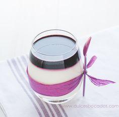 Dulces bocados: Mousse de mascarpone con gelatina de arandanos