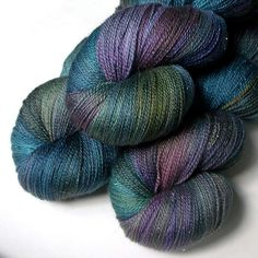 Glimmer Lace SW Merino and Silk Yarn by JulieSpins