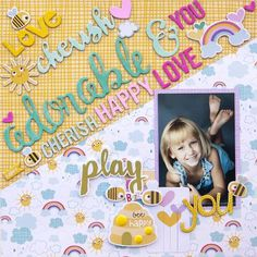 Bella Blvd Sweet Baby Girl and Sweet Sweet Spring collections. Adorable layout by creative team member Jennie McGarvey.