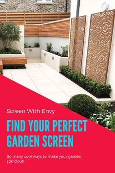 Small Courtyard Gardens, Back Gardens, Outdoor Gardens, Backyard Patio Designs, Small Backyard Landscaping, Small Garden Landscape, Back Garden Design, Garden Screening, Garden Privacy Screen