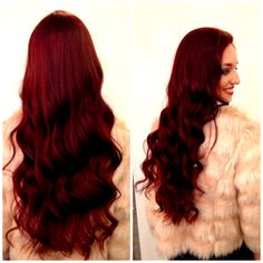 """""""Red Velvet Elvis"""" Custom color created with joico color and and inrv. Carleen Sanchez Curly Hair & Color Expert in Reno, Nv and chrome gloss. Red Velvet Hair Color, Ruby Red Hair Color, Red Color, Haircuts For Curly Hair, Curly Hair Styles, Natural Hair Styles, Joico Hair Color, Hair Colour, Hair Color Experts"""