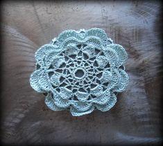 Crochet Lace Stone Flower Table Decoration Home Decor by Monicaj