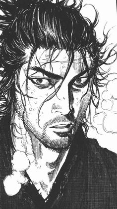 Manga Drawing, Manga Art, Manga Anime, Vagabond Manga, Samurai Artwork, Miyamoto Musashi, Inoue Takehiko, Cool Anime Wallpapers, Different Art Styles