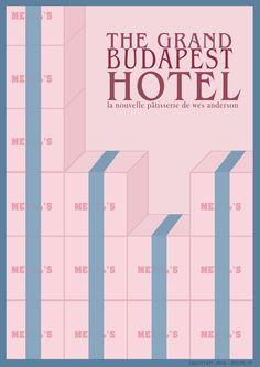 The Grand Budapest Hotel (2014) ~ Minimal Movie Poster by Joris Laquittant #amusementphile