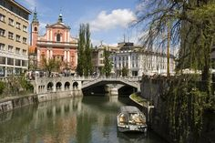 Beautiful capitol of Solvenia: Ljubljana - This is where my mother's family is from. Someday I'd like to go see it.