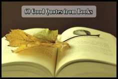 60 Good Quotes from Books to Read