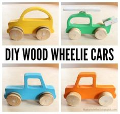 Wood Push Car, Truck and Helicopter Toys