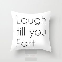 Funny Humorous Throw Pillow Case. Funny Fart Pillow Cover. 18 inch. Double sided Print