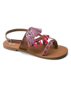 Camel Ulrica Embellished Sandal - Women