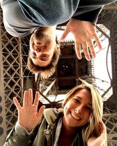Taking our Twitter #ElevatorSelfie game up a notch. Eiffel Tower selfie with @vampireplayground ! #LaVieEnLiz by lizoneal