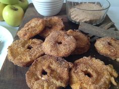 Apple Fritters with Cinnamon Sugar and Caramelized Sauce
