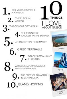 10 Things I Love about Greece