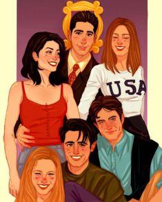 Friends Cast, Friends Episodes, Friends Moments, Friends Series, Friends Tv Show, Friends Forever, Best Friends, Friends Tv Quotes, Friends Illustration
