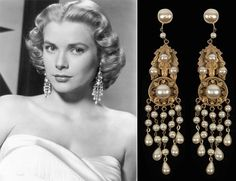 "Grace Kelly in earrings from Joseff of Hollywood in the movie High Society. Joseff of Hollywood designed and created jewelry for all the major motion pictures during Hollywood's ""Golden Age""."