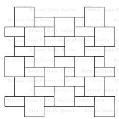 3 size paver patterns - Google Search