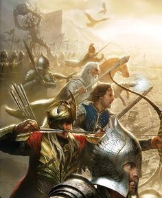 <3 An amazing Lord of the Rings fan art. <3