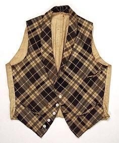 American wool and linen men's waistcoat, mid 19th century. | The MET