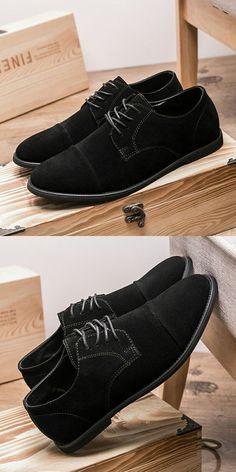 0e238cbd62c ... Appartements Chaussures Chaud En Daim En Cuir à Lacets Mocassins Chaussure  Homme de hommes chaussures fiable fournisseurs sur Prelesty Footwear Store.
