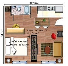 Studio apartments are small, offering limited floor space and limited design and décor options. In order to make the most of what you have, you need to be