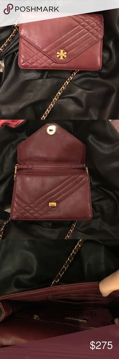 4b88a10a7884 Authentic Tory Burch Burgundy soft leather bag This bag is no longer sold  at Tory Burch