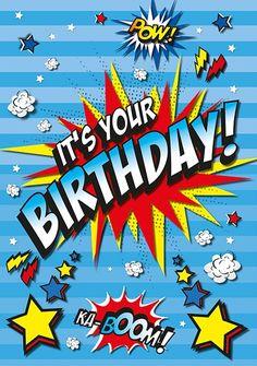 Birthday Cards for Boys Happy Birthday Kind, Birthday Wishes For Kids, Happy Birthday Wishes Quotes, Birthday Blessings, Happy Birthday Pictures, Happy Birthday Greetings, It's Your Birthday, Birthday Memes, Bd Pop Art