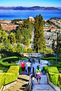 Lyon Steps In Pacific Heights, San Francisco By Mitchell Funk www.mitchellfunk.com