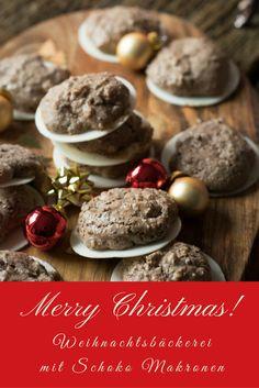 In der Weihnachtsbäckerei dürfen Makronen natürlich nicht fehlen und Schokoladen Makronen sind einfach unglaublich lecker!