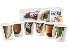 Animal Nose Cups ... but disposables are bad for the environment!