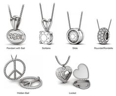 Diamond Necklaces & Pendants Buying Guide. Good Reference for writing Jewellry Product Descriptions.