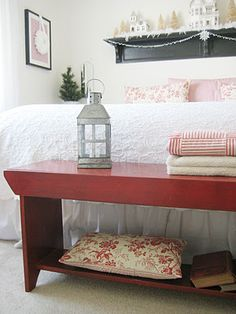 Like the styling of the small bench at the end of the bed