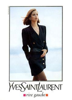 CHRISTY TURLINGTON,  Yves Saint Laurent Ad ~ 1990  Photo by ~ Arthur Elgort