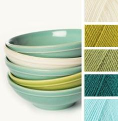 Cream, Lime, Meadow, Teal, Sherbert A beautiful colour combination using Stylecraft special DK