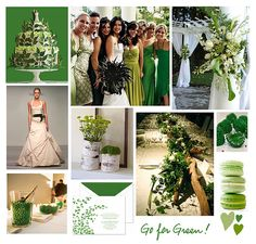 A St. Patrick's Day Wedding - Rustic Wedding Chic using #emerald, #lime, #white