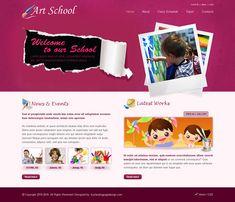 art school website template psd for sale School Website Templates, Create Your Website, Class Schedule, Art School, Lorem Ipsum, It Works, Unit Plan, Nailed It