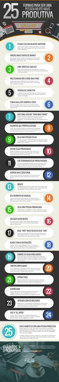 25 formas de tornar uma pessoa (ainda mais!!) produtiva.