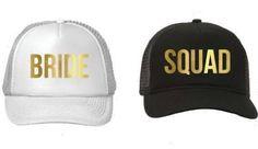 Bride/Bride Squad Bachelorette Hats, Bachelorette Party Hats, Bridal Shower, Bridal Shower Hat, Bachelorette Party, Bride To Be