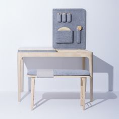 Lilla multifunctional furniture by Jessica HerreraThe idea of Jessica Herrera was to create a series of smart furniture for small spaces to embraces the coziness of a small home by utilizing it.