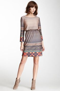 Mixed Print Dress on HauteLook