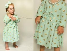Mint Gold Dot Dress