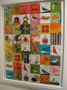 Charley Harper Memory Game FRAMED! Love. Would do up in a frame with a white mat.