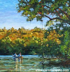 """""""Three Early Fishermen"""" Oil 15"""" x 14.5""""  original or prints available to order"""